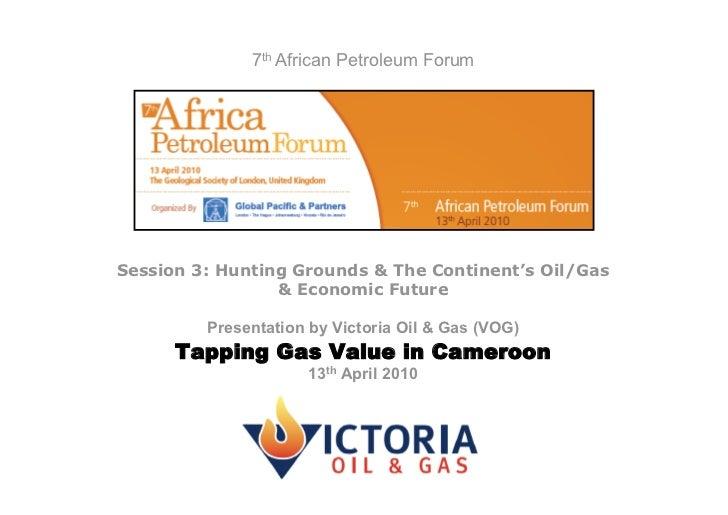 7th African Petroleum Conference Presentation - April 2010