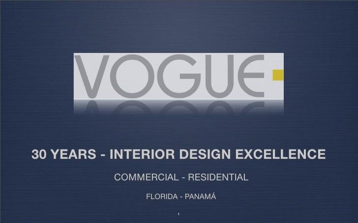 Vogue Interior Design - 30 Years
