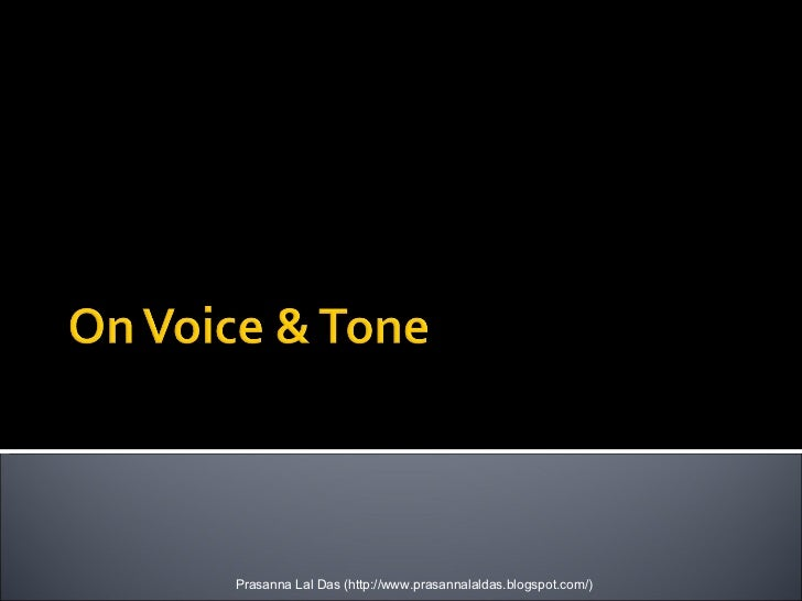 On Voice And Tone