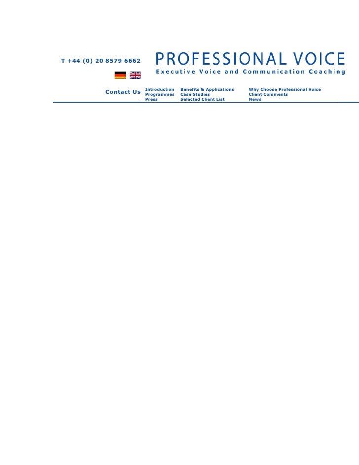Voice & accent