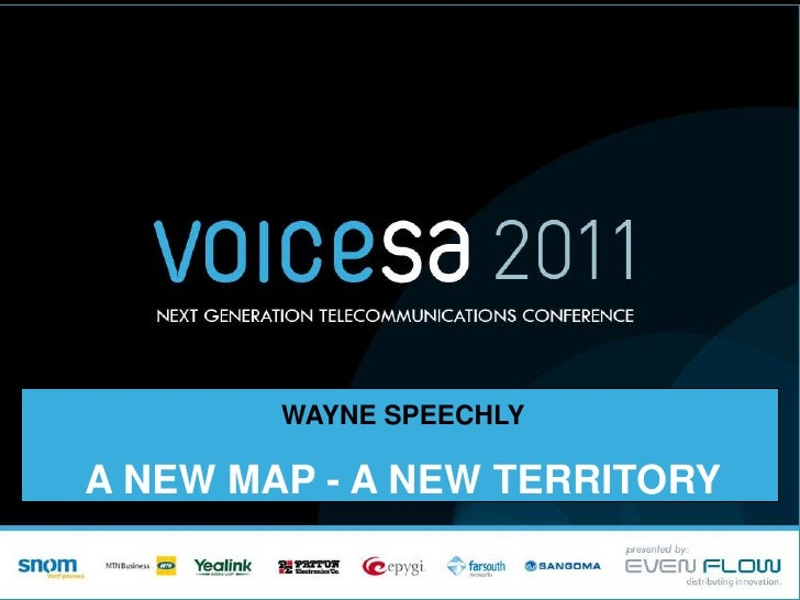 A new map, a new territory - By Wayne Speechly