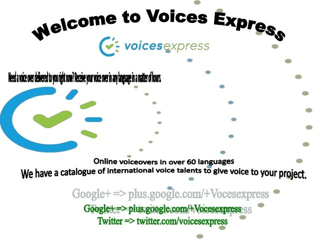 Voiceover Services - Voices Express