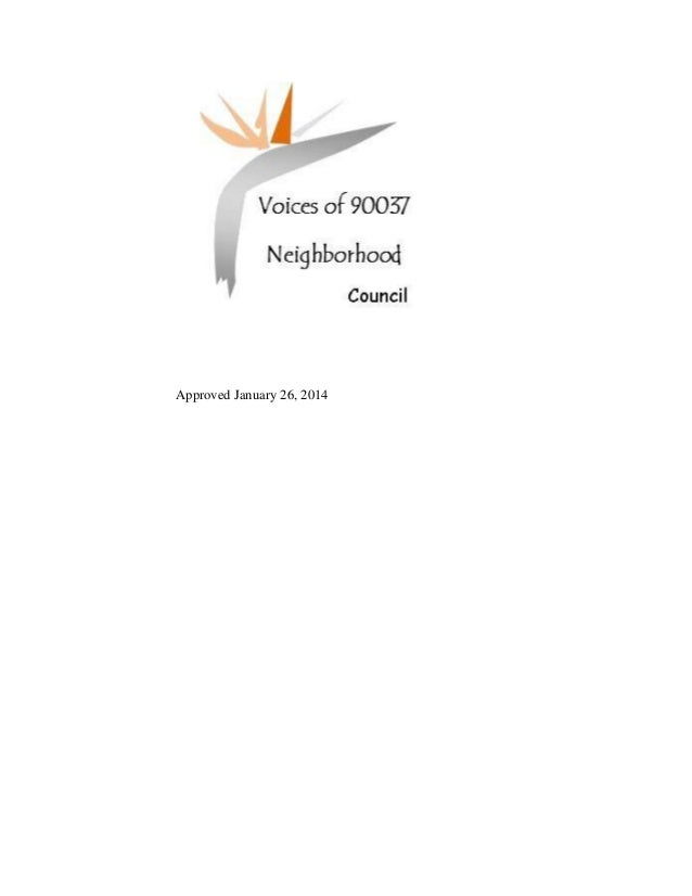 Voices of 90037 NC Bylaws