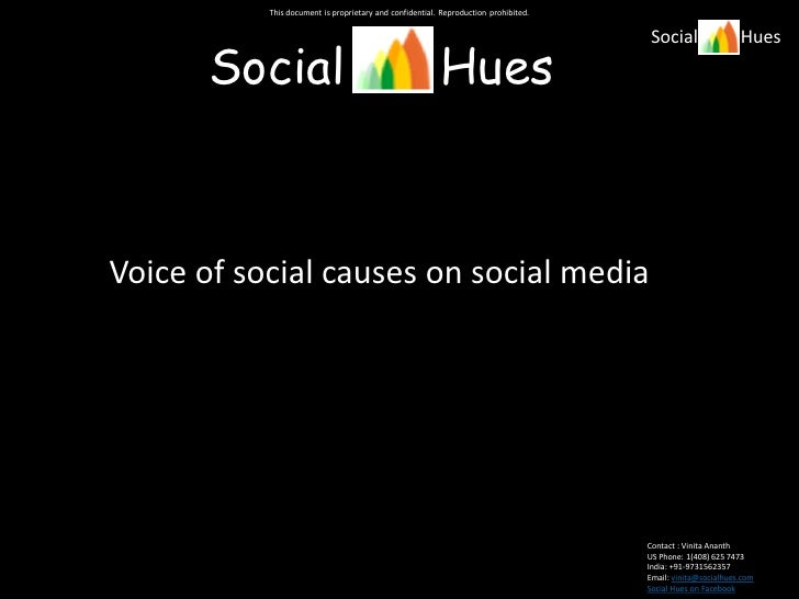 Voices of social causes and social media