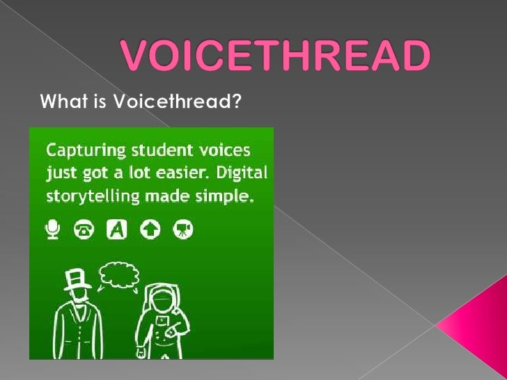 VOICETHREAD What is Voicethread?