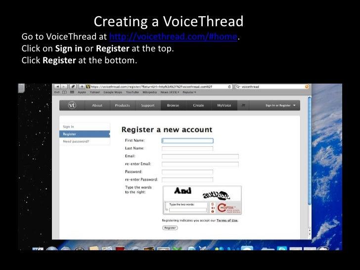 Voice thread professional development