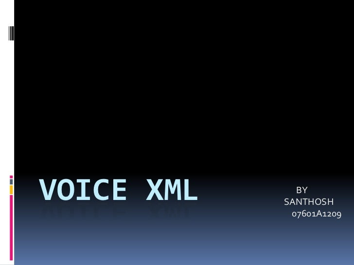 Voicexml ppt