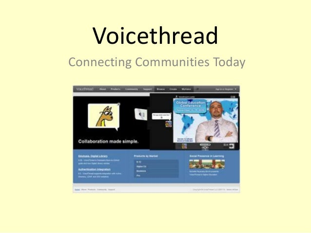 Voicethread Connecting Communities Today