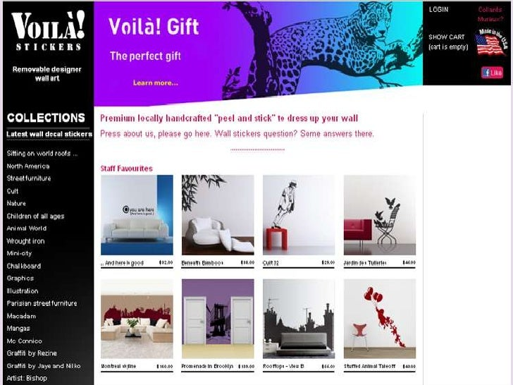 Wall Decals | Wall Stickers | Urban Peel & Stick | Voila! wall stickers USA