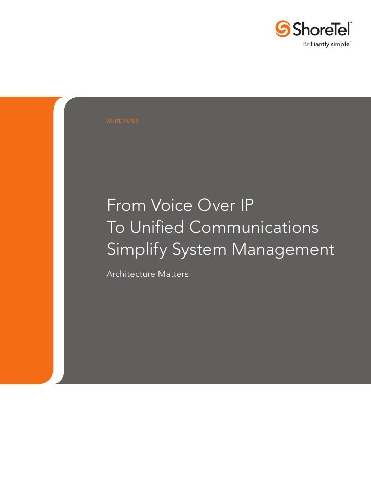 From VOIP to UC: How to Simplify System Management