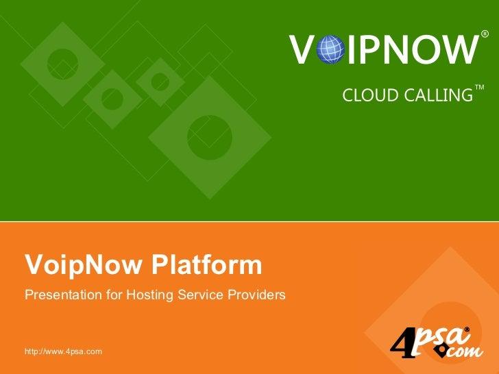 Voipnow Platform For Sp