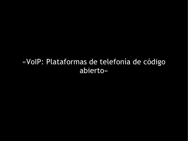 Desarrollo de aplicaciones VOIP EXPONE