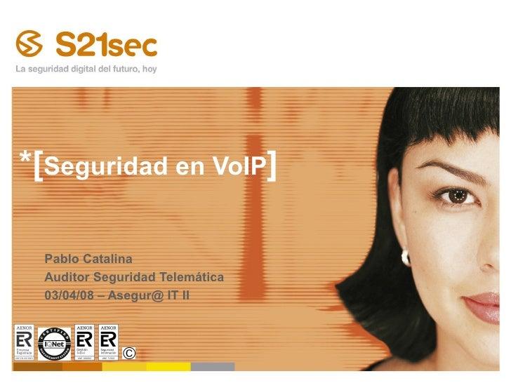 Asegúr@IT II - Seguridad en VoiP