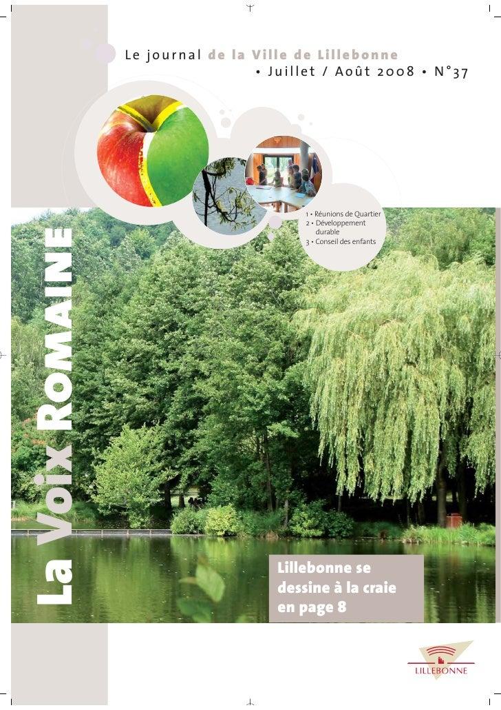 Le journal de la Ville de Lillebonne                                    • Juillet / Août 2008 • N°37                      ...