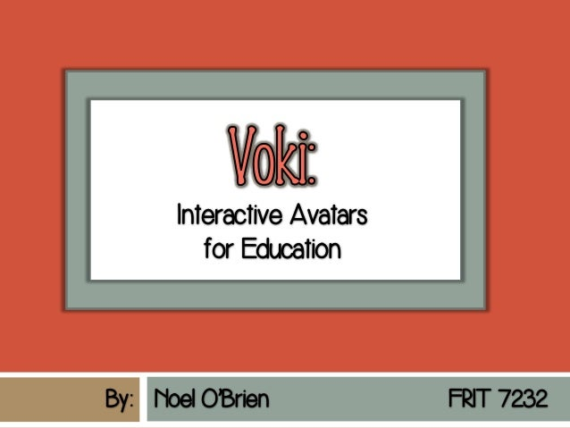 Screenshot image provided by www.Voki.com
