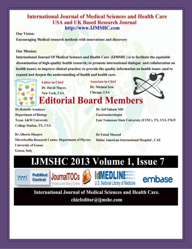 International Journal of Medical Sciences and Health Care Vol-1 Issue-7 (Ijmshc-702) http://www.ijmshc.com Page 7 Effects ...