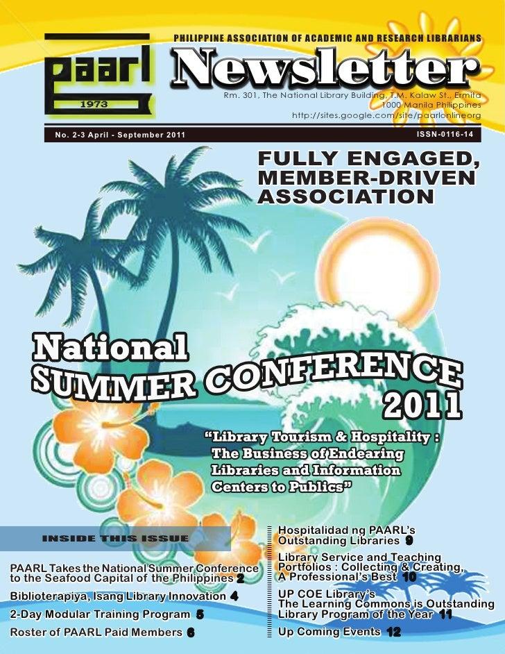 PAARL Newsletter 2011 (April-September)