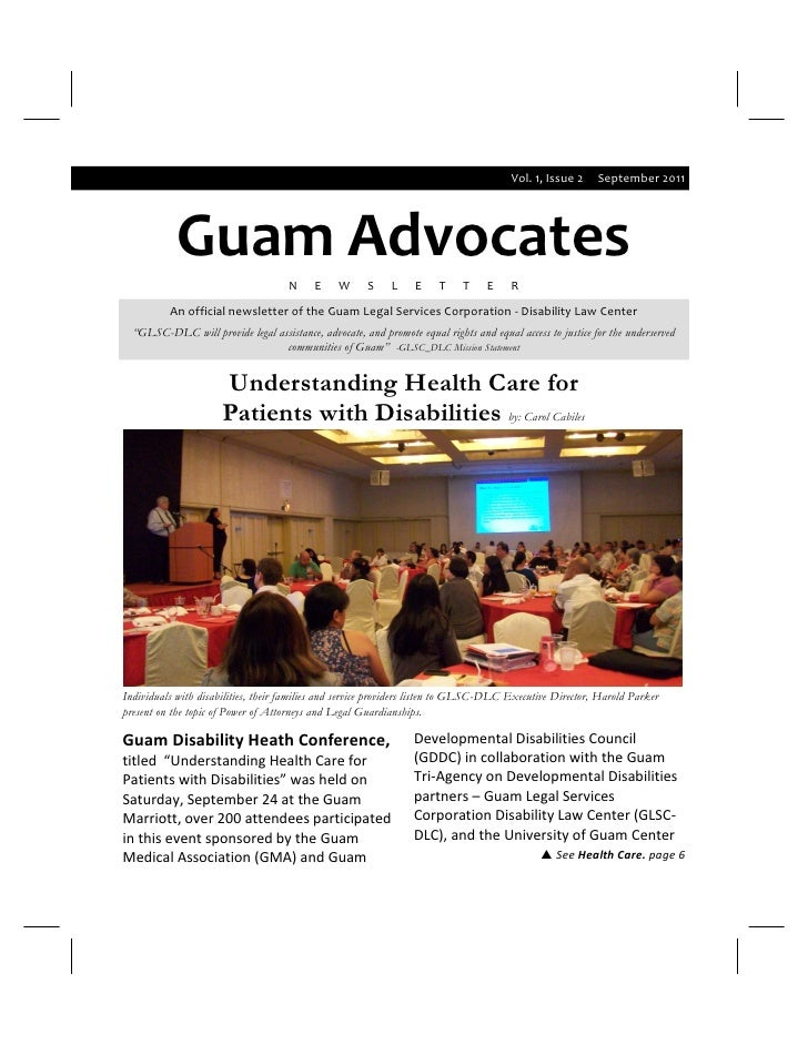 Vol. 1, Issue 2     September 2011            Guam Advocates                                     N     E    W      S    L ...