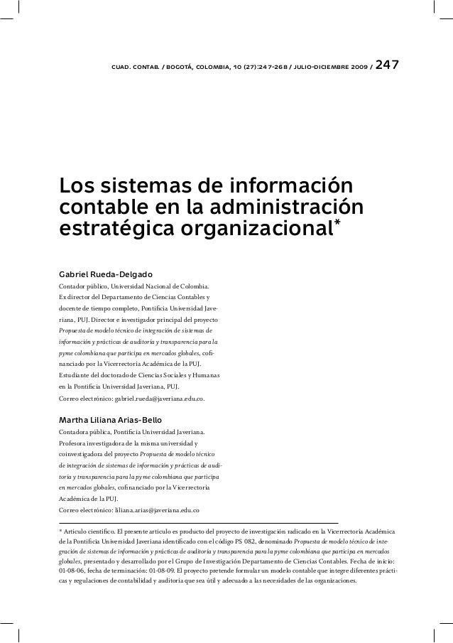 SISTEMAS DE INFORMACIÓN CONTALE