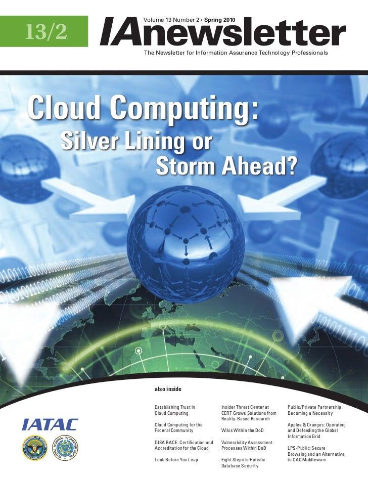 Volume 13 Number 2 • Spring 201013/2                                                           The Newsletter for Informat...