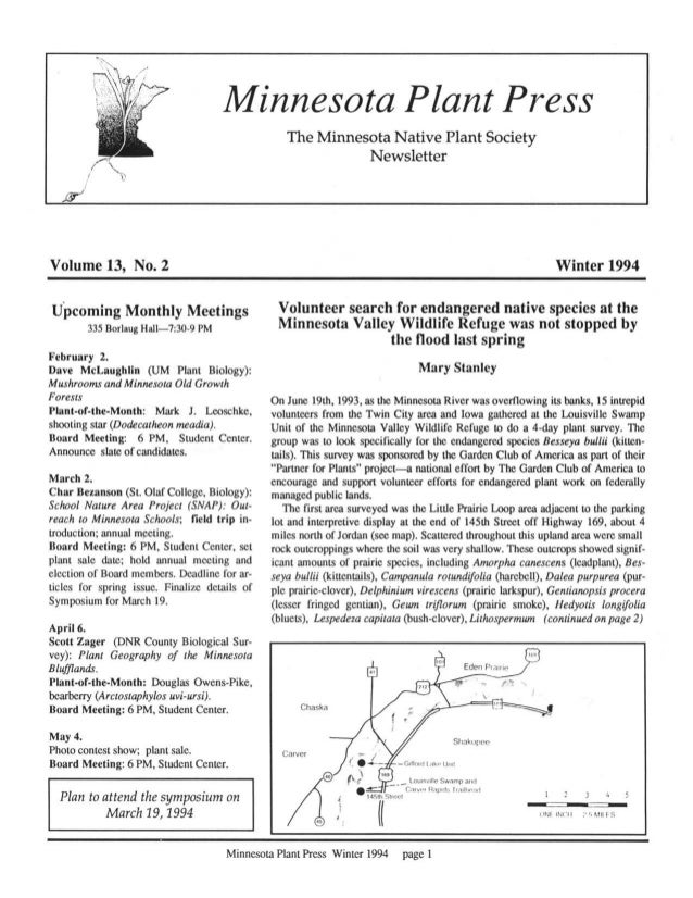 Winter 1994 Minnesota Plant Press