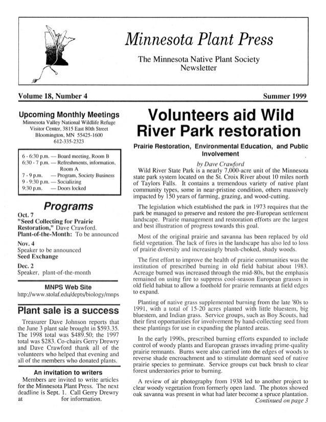 Summer 1999 Minnesota Plant Press