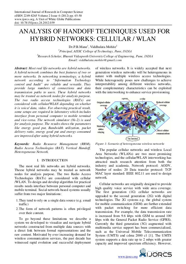 International Journal of Research in Computer ScienceeISSN 2249-8265 Volume 2 Issue 4 (2012) pp. 45-50www.ijorcs.org, A Un...
