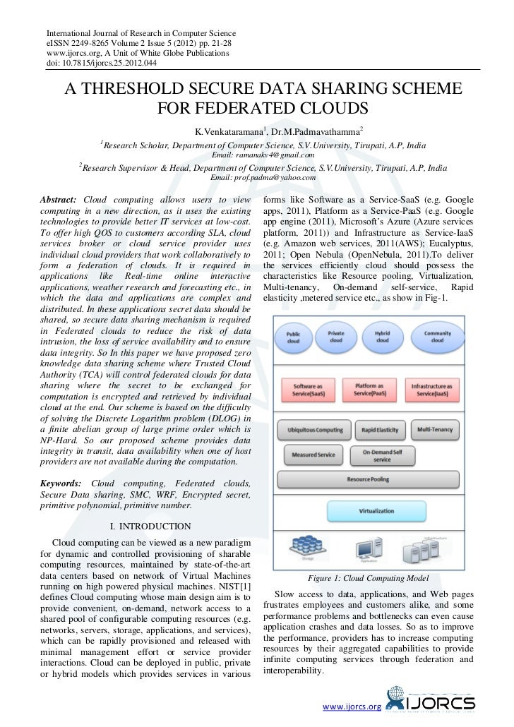 International Journal of Research in Computer Science eISSN 2249-8265 Volume 2 Issue 5 (2012) pp. 21-28 www.ijorcs.org, A ...
