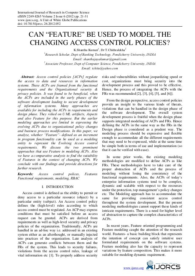 """Can """"Feature"""" be used to Model the Changing Access Control Policies?"""