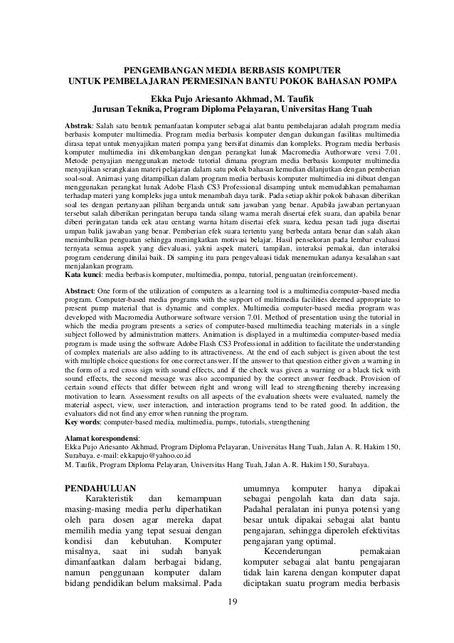 Vol2 no11 pengembangan media berbasis komputer, ekka pujo, m. taufik