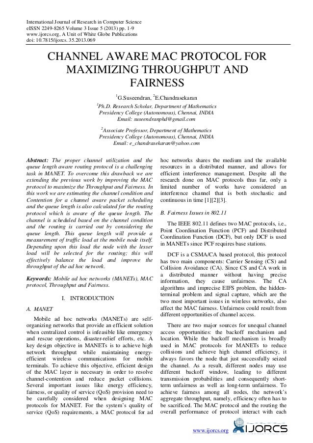 International Journal of Research in Computer Science eISSN 2249-8265 Volume 3 Issue 5 (2013) pp. 1-9 www.ijorcs.org, A Un...
