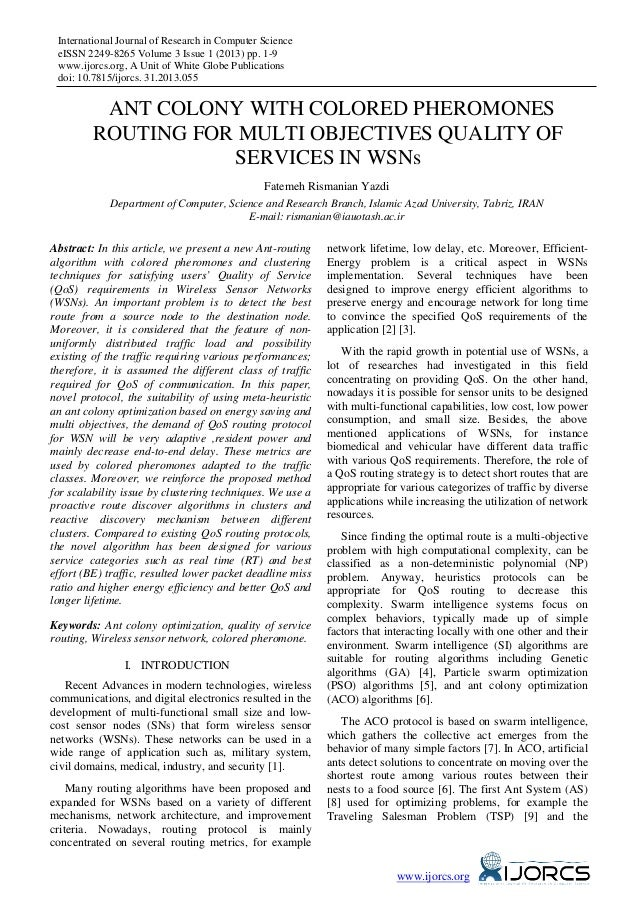 International Journal of Research in Computer Science eISSN 2249-8265 Volume 3 Issue 1 (2013) pp. 1-9 www.ijorcs.org, A Un...