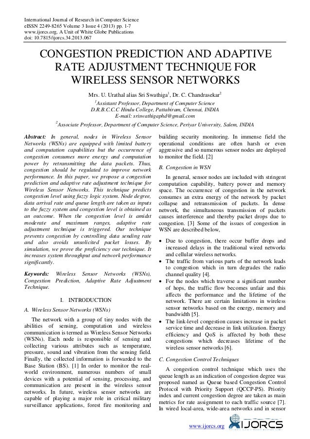 International Journal of Research in Computer Science eISSN 2249-8265 Volume 3 Issue 4 (2013) pp. 1-7 www.ijorcs.org, A Un...