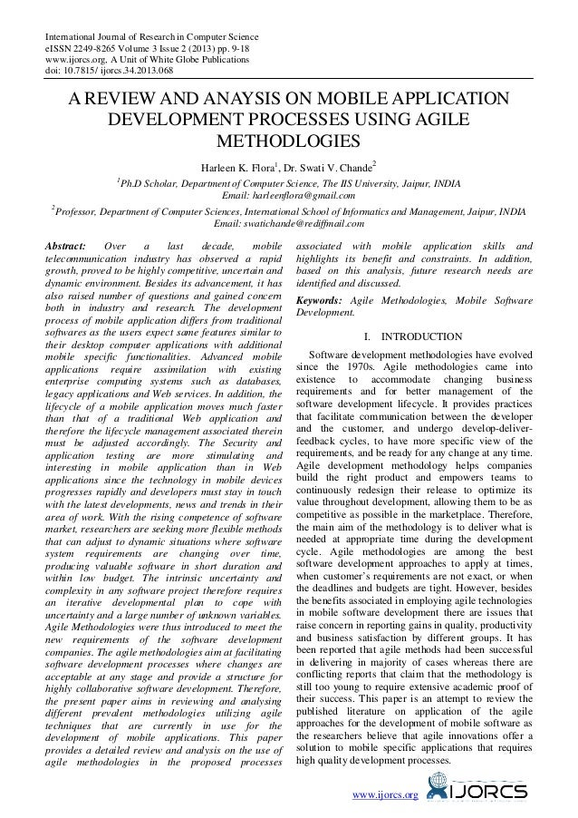 International Journal of Research in Computer Science eISSN 2249-8265 Volume 3 Issue 2 (2013) pp. 9-18 www.ijorcs.org, A U...