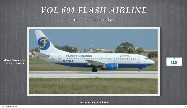 VOL 604 FLASH AIRLINE                           Charm El Cheikh - Paris  Alizee Dasonville  Charles Arnould               ...