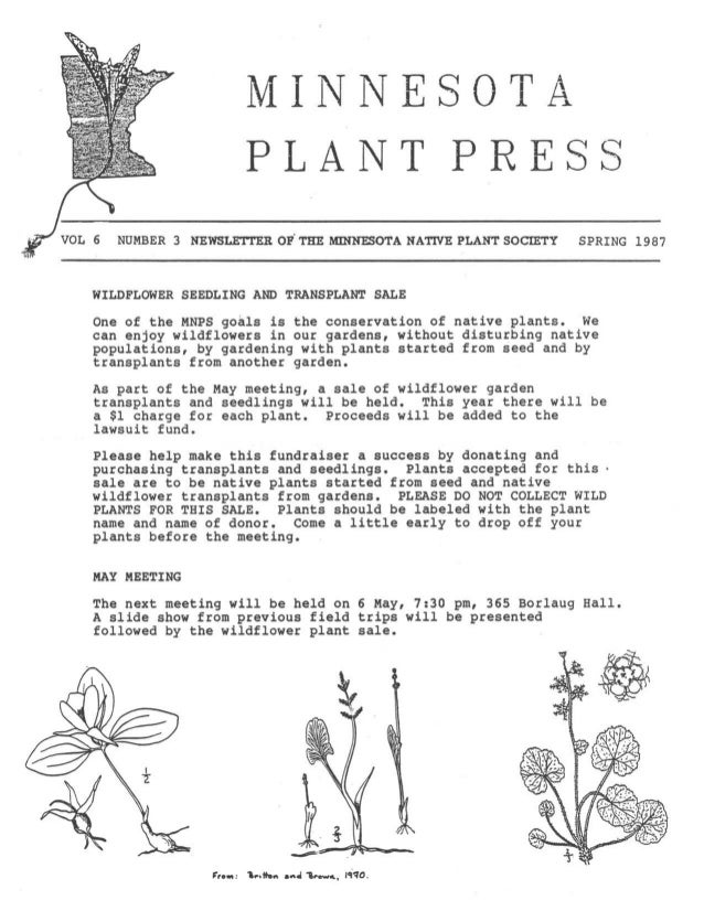 Spring 1987 Minnesota Plant Press