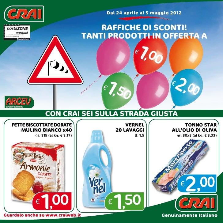 Offerte CRAI dal 24 aprile al 5 maggio 2012