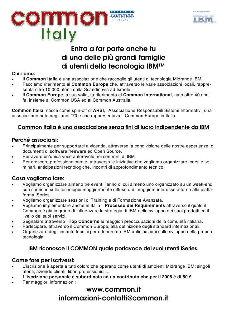 Volantino Common Italia 2008 07