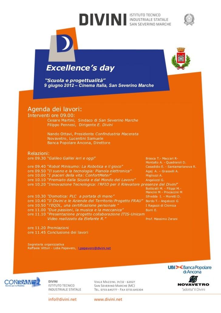 Volantino excellenceday 2012