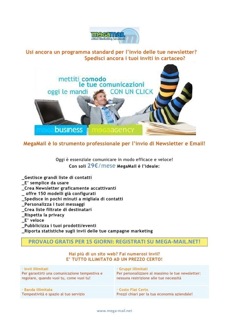 Email marketing:Megamail