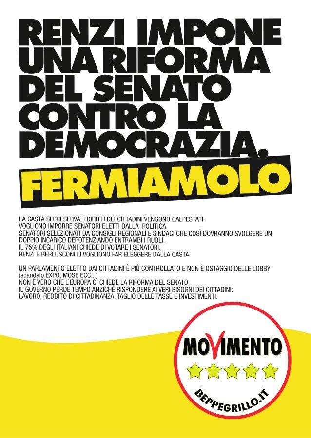 Volantino proposte m5s