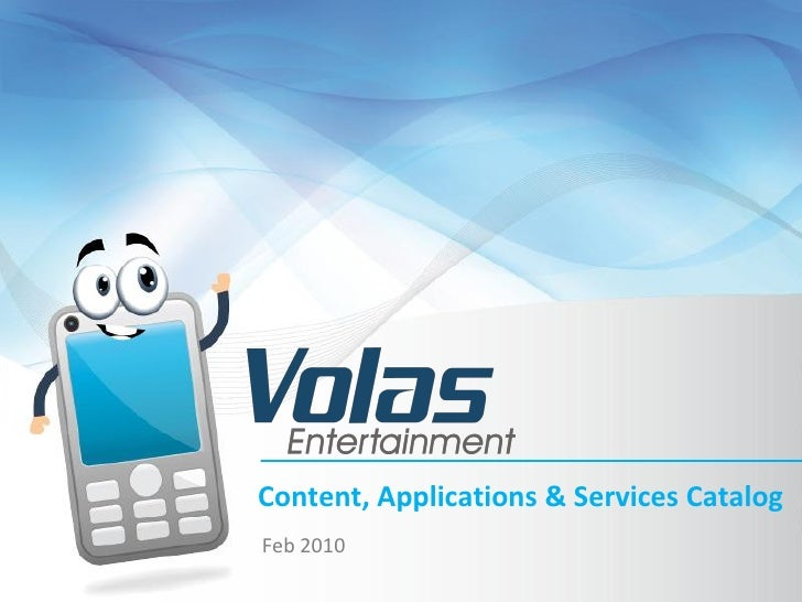 Content, Applications & Services Catalog Feb 2010