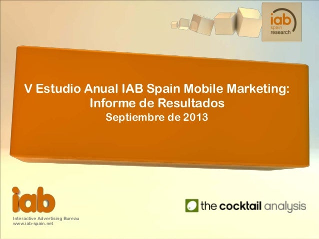 5ta Oleada Estudio Mobile Marketing en España