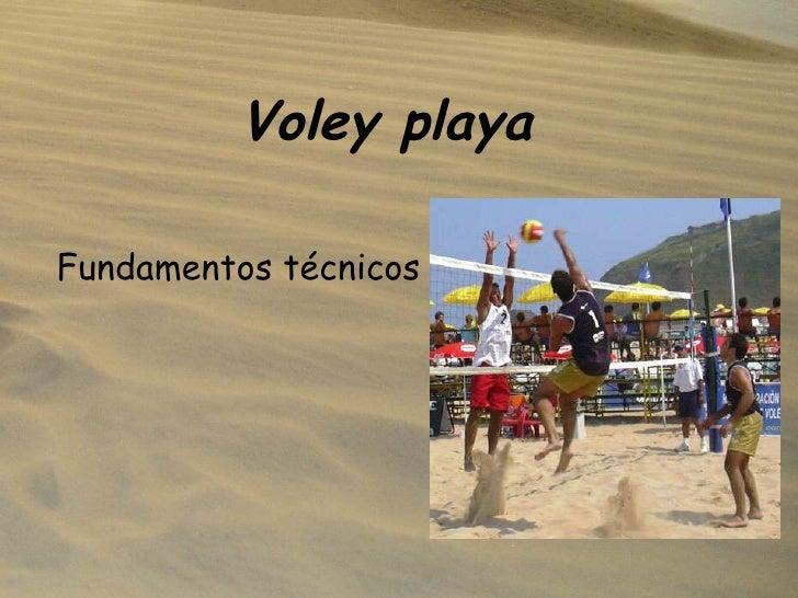 Voley playa Fundamentos técnicos
