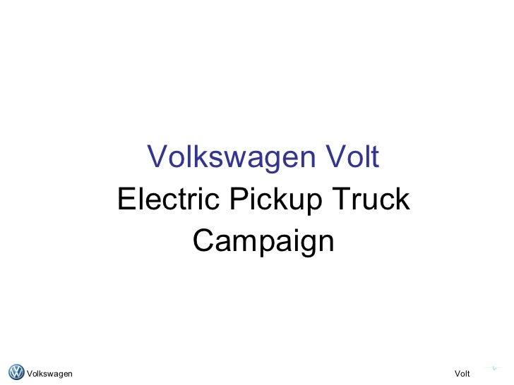 Volkswagen Volt Advertising Campaign