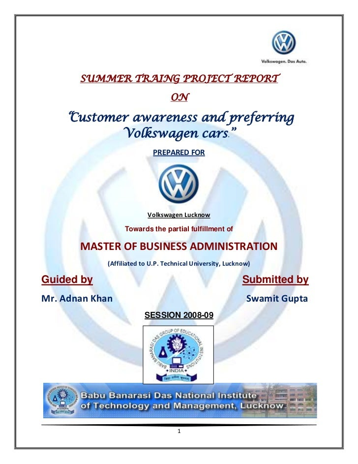 Customer preference for volkswagen cars