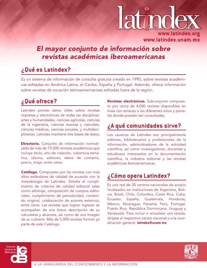 www.latindex.org                                                                            www.latindex.unam.mx         E...