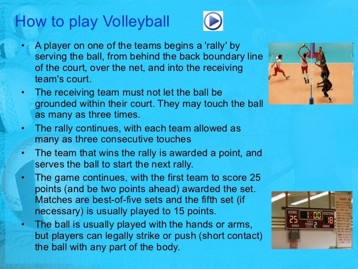 how to play volleyball Bored with lying on a towel this summer here's how to get active and have fun with a volleyball game on the sand.