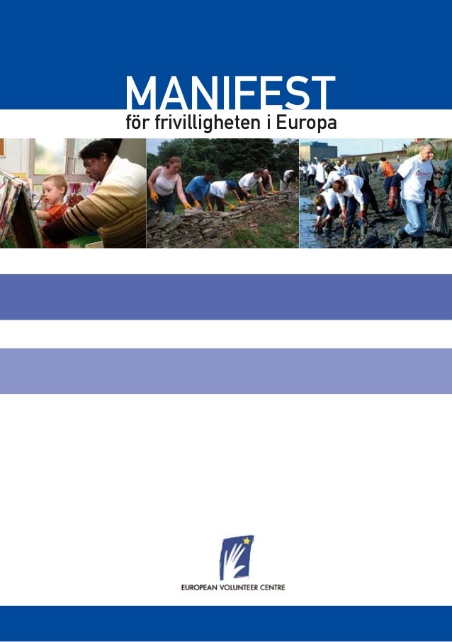 MANIFESTför frivilligheten i Europa