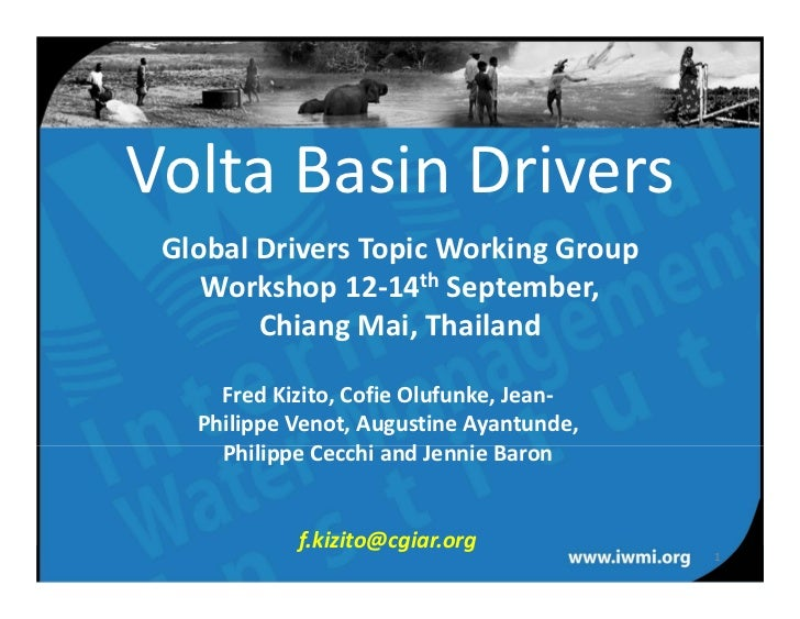 Volta drivers of change (CPWF GD workshop, Sept 2011)